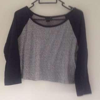 Long Sleeve Crop Tshirt