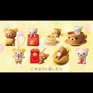 日本麥當勞 兒童餐玩具 拉拉熊 懶懶熊