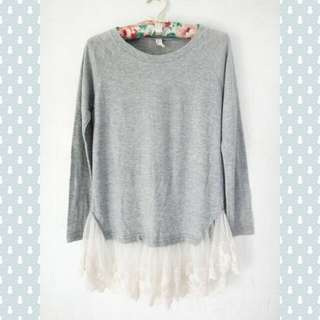 Gray Laced Longsleeves