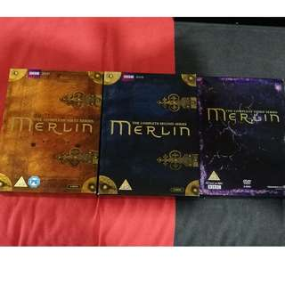BBC DVD Merlin (The Complete First (6 discs), Second (6 discs) and Third Series (5 discs) with Special Bonus features