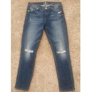 NWOT Seven For All Mankind Josefina Skinny Boyfriend Jeans, Size: 26