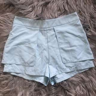 Paradisco Pale Blue Overlay Shorts (8)