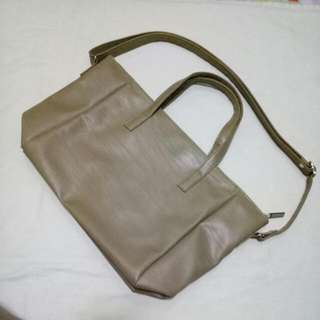 Taupe Handbag - Marikina-Made
