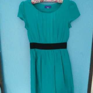 Arithalia-Green Dress