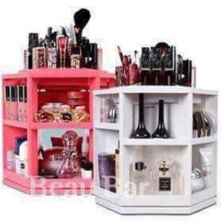 tabletop spinning makeup organizer