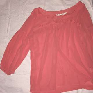Tomato (L) Bell Sleeve Top