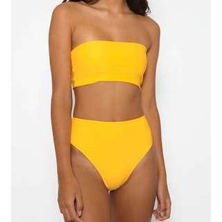 Yellow High Waist Bikini