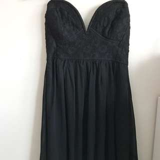 Strapless Black Dress