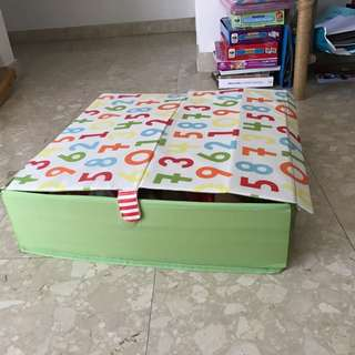 Two foldable storage boxes