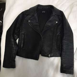 Thick Faux Leather Jacket