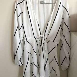 Stripy Sheer Dress