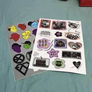 EXO Sticker Sheet (XOXO&Growl Era)