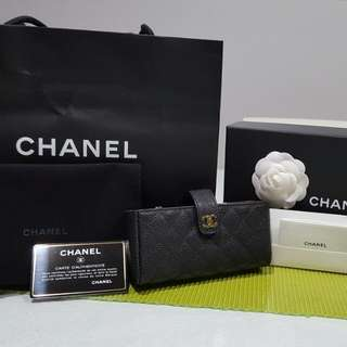 QUICK SALE Authentic NEW Chanel Phone Pouch/ Small Clutch In Black Caviar Leather