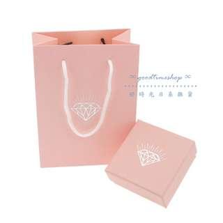 🚚 ✦歐式公主風格粉色鑽石飾品禮盒提袋組✦