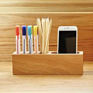 Desktop Wood Stationery/ phone holder