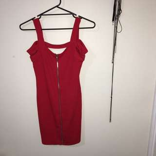 TEMT Red Bodycon Slip Dress