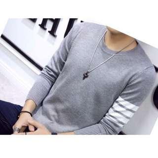 Grey 4 Strips Pullover  BNWTIP 