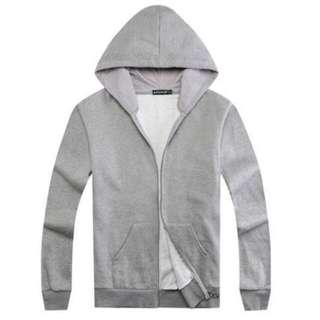 Grey Zipped Hoodie |BNIP|