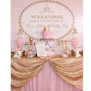 PRINCESS Themed Birthday Party (Party Supplies) Pls CHAT with us for the detailed/specific product listing & price.. We Have wide range of stocks pre printed & personalized printables…