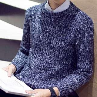 Dark Blue Knit Pullover |BNIP|