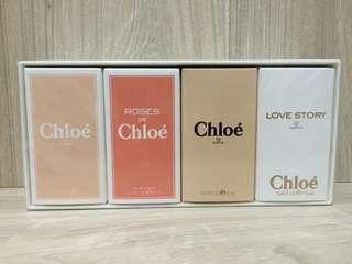 Chloe小香水禮盒 白玫瑰/玫瑰/同名淡香精/愛情故事 5ml*3入+7.5ml*1入