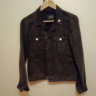 CHEAP MONDAY men's black denim jacket (S)