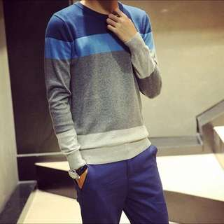 Light Blue Strip Knit Pullover |BNWTIP|