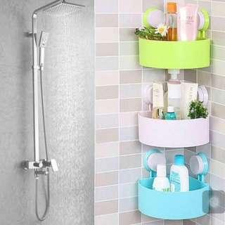 Morganstar Bathroom Kitchen Corner Storage Shelf Holder Organizer