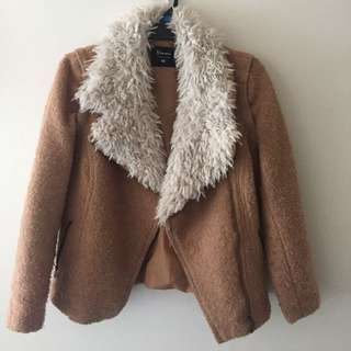 Furry Coat Convertible To Vest