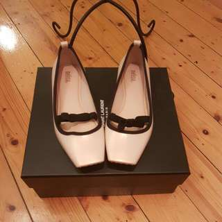 Size 8 Never Been Worn Melissa Pale Pink Flats- Lovely Ballet Inspired Shoes With Pointe Shoe Shaped Toe- Originally Purchased At Quincy!