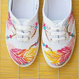 Boho Chic Custom Shoes