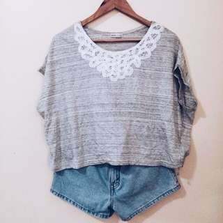 Laced Batwing Top