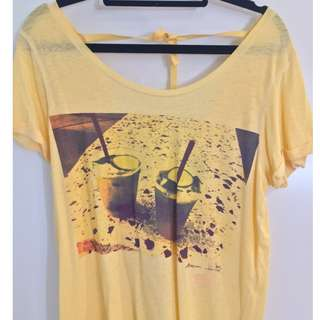 Maison Scotch Photopoint T with bow tie at back Siz1 RRP $99.95