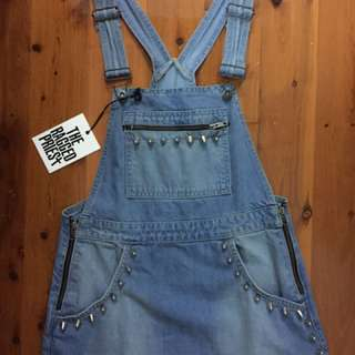 The Ragged Priest Denim Overall Mini Dress