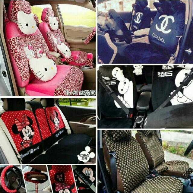 18 In 1 Car Seat Cover Hello Kitty Mickey Baymax LV Chanel Auto Accessories Others On Carousell