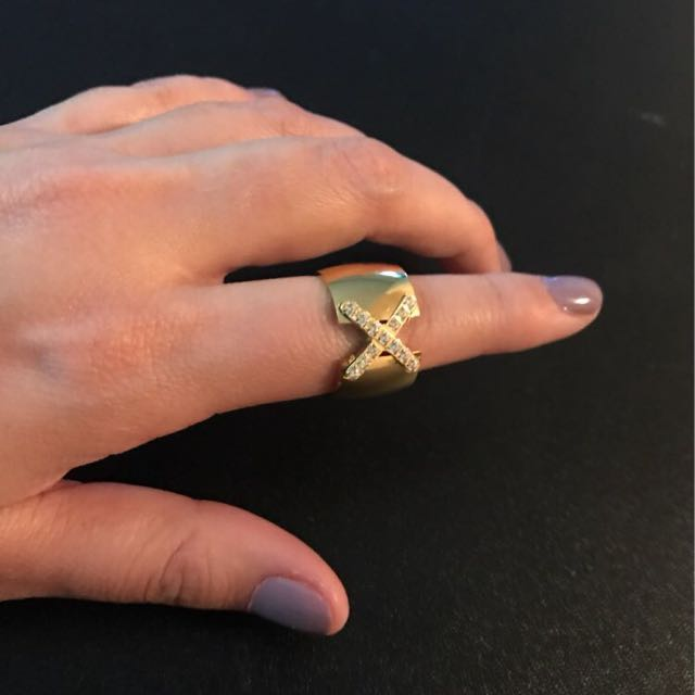 18K Gold Plated Ring Stainless Steel