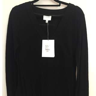 Witchery Cut Out LS Top in Black XS RRP $79.95