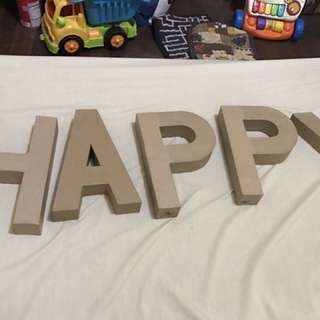 "Standee letters ""HAPPY@1"""