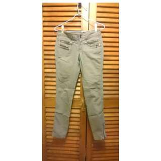 MANGO灰色直桶褲