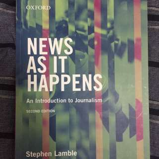 Curtin Journalism Textbook - News As It Happens