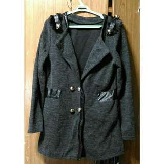 Black Coat With Leather Lining