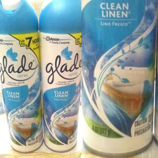 GLADE SPRAY CLEAN LINEN SCENT 220g/8oz