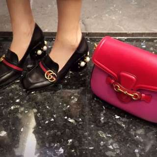Gucci Lady Web 雙背帶包