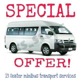 🚚 13 Seater Minibus Transport