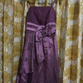 Mini Dress Wanita Purple