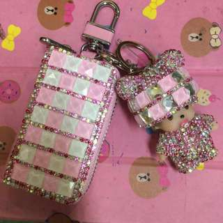 Monchichi Bag Charms with Coin Purse