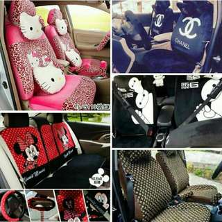 18 In 1 Car Seat Cover Hello Kitty Mickey Baymax LV Chanel