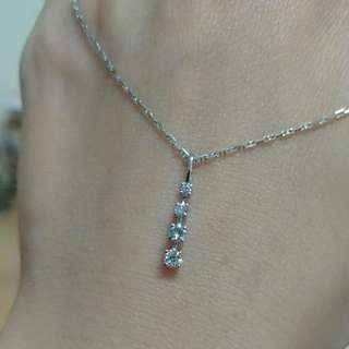 Mabelle 18k鑽石吊咀 包16吋頸鏈