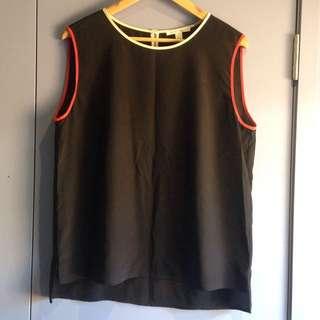 Trenery Silk Top - Black