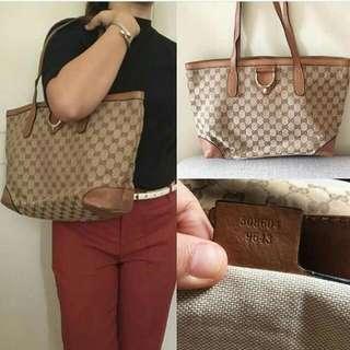 Gucci Canvass Tote Bag